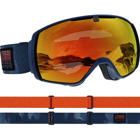 Salomon XT One Gafas de esquí, azul/naranja